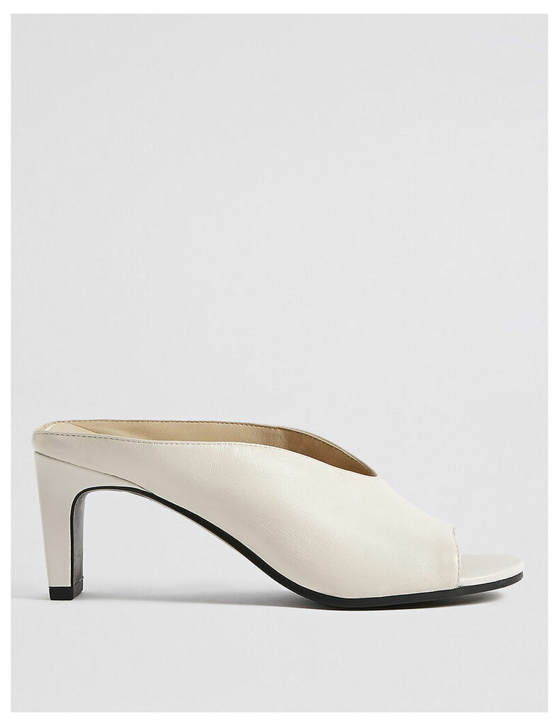 M&S Collection Leather Straight Back Mules Sandals