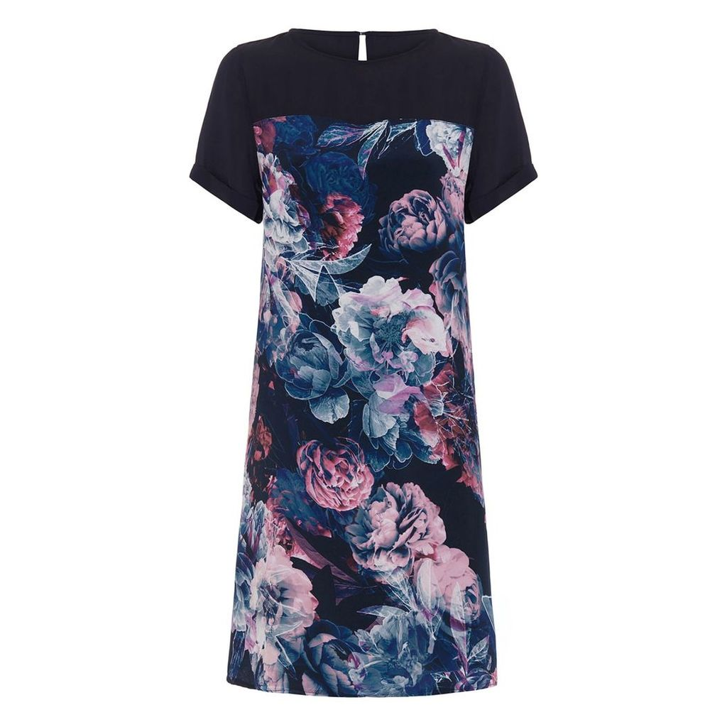 Abigail London - Silk Floral Printed Heather Dress With Optional Waist Tie