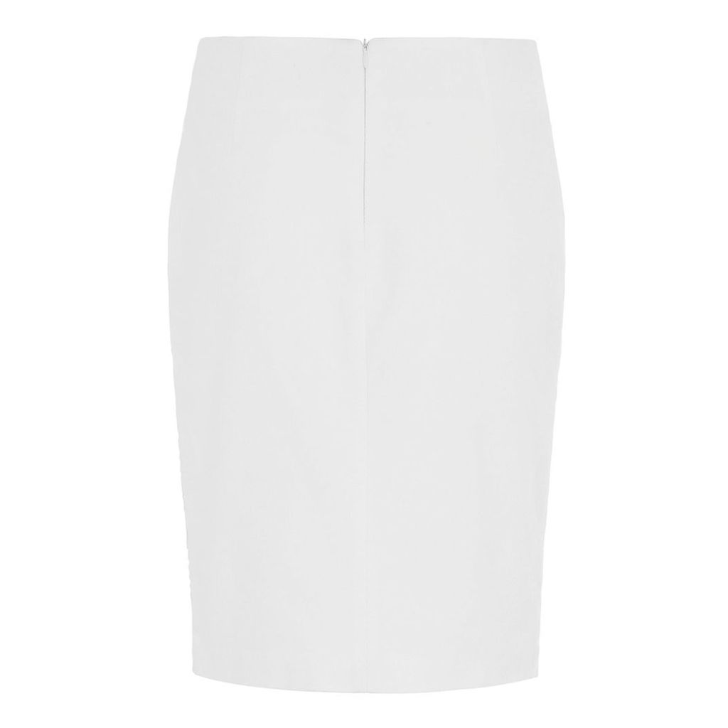 Abigail London - Cream Cotton Olivia Skirt With Lace Wrap Detail