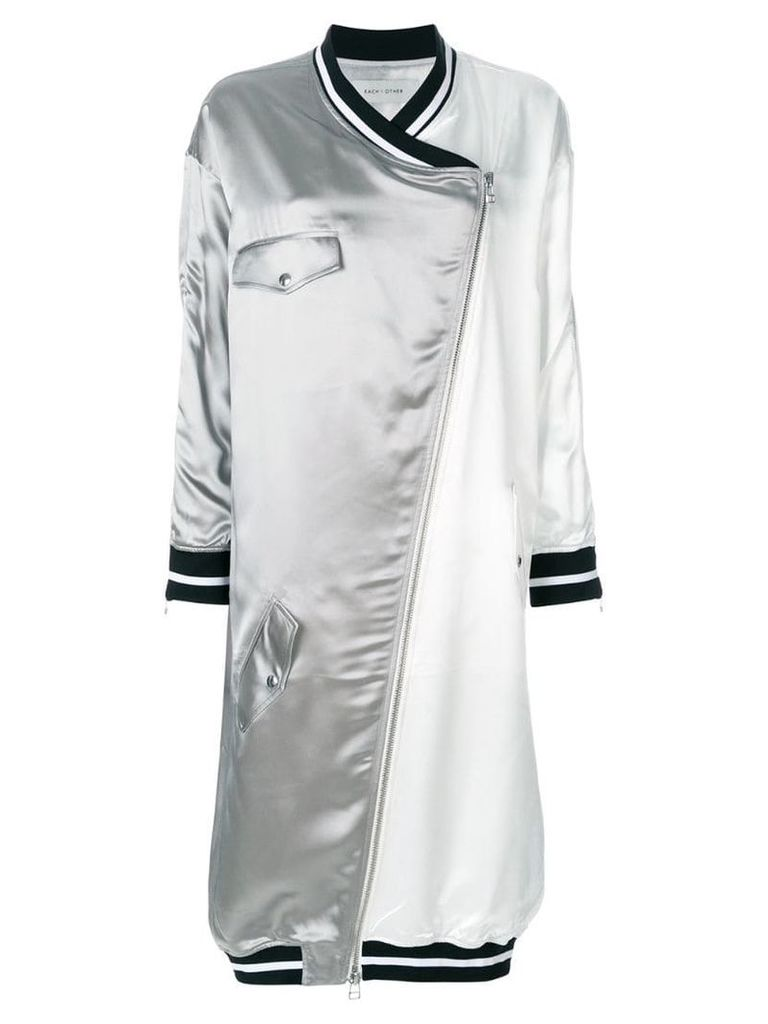 Each X Other zip-front oversized coat - White