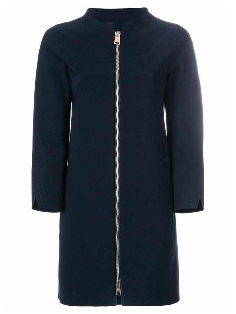 Herno collarless coat - Blue