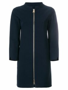 Herno collarless coat - Blue