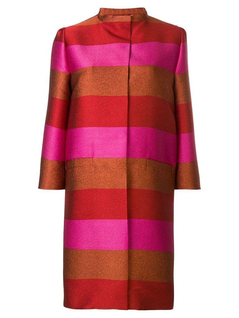 Gianluca Capannolo silk striped coat - Multicolour