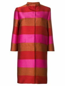 Gianluca Capannolo silk striped coat - Multicolour