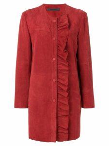 Simonetta Ravizza ruffle detail coat - Red