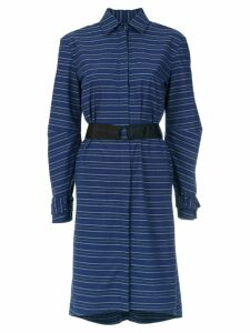 Tufi Duek striped belted coat - Blue