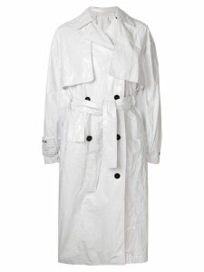 MSGM belted trench coat - White