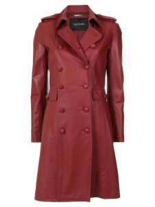 Tufi Duek leather trenchcoat - Red