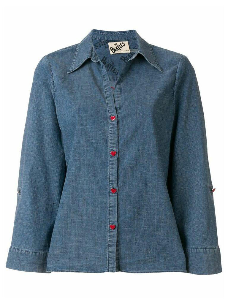 Alice+Olivia embroidered denim shirt - Blue