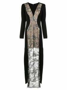 Tufi Duek lace panels gown - Black