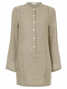 Venroy mandarin collar shirt dress - Green