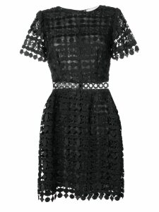 Michael Michael Kors geometric floral lace dress - Black