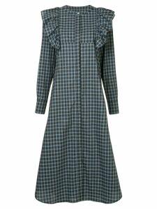 Macgraw Signal ruffle plaid dress - Blue