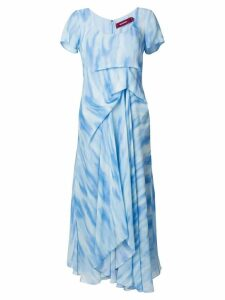 Sies Marjan printed draped dress - Blue