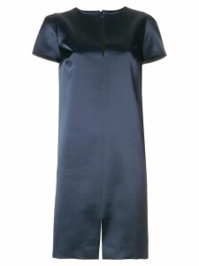 Gianluca Capannolo glossy shift dress - Blue