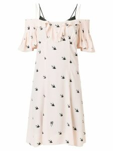 McQ Alexander McQueen swallow print dress - Neutrals