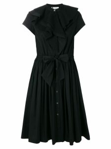 LANVIN poplin ruffle dress - Black