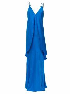 Tufi Duek layered gown - Blue