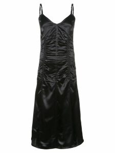 Helmut Lang ruched v-neck dress - Black