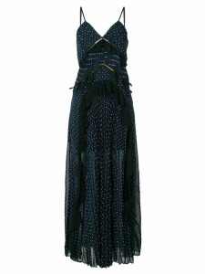 Self-Portrait polka dot maxi dress - Blue