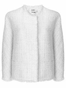 Alexander McQueen boucle tweed jacket - Neutrals