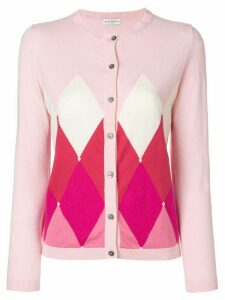 Ballantyne argyle-knit cardigan - Pink