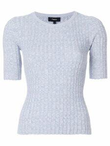 Theory ribbed shortsleeved sweater - Grey