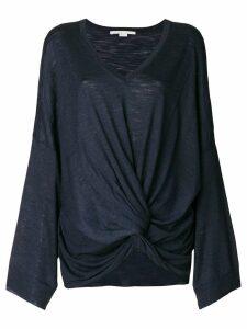 Stella McCartney V-neck knot jumper - Blue