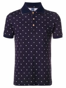 Fefè swan print polo shirt - Blue