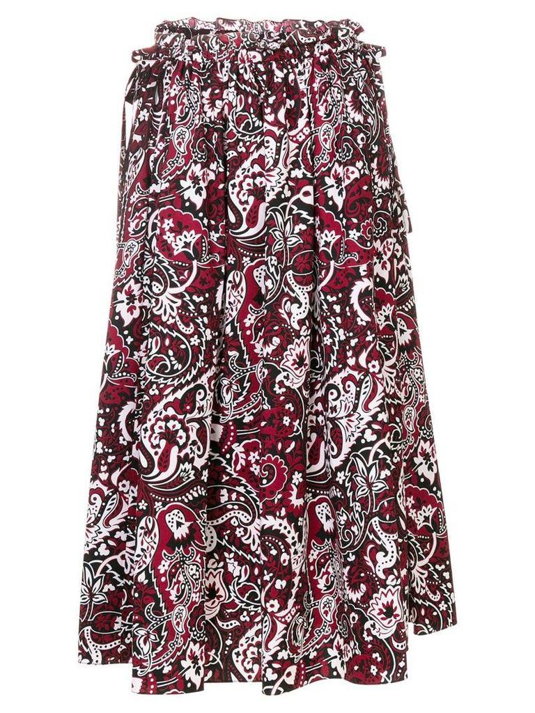 Kenzo paisley print flared skirt