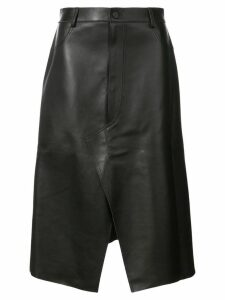 Dion Lee shadow stitch leather skirt - Black