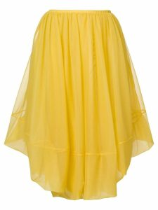 Jil Sander asymmetric midi skirt - Yellow