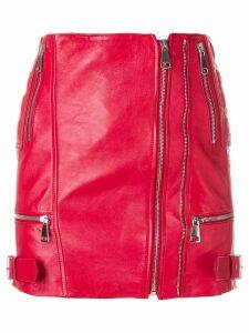 Manokhi zipped mini skirt - Red