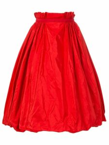Alexander McQueen taffeta midi skirt - Red