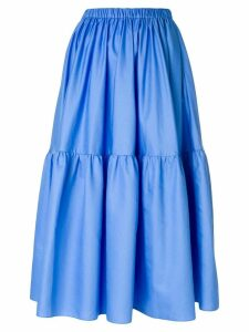 Stella McCartney elasticated waist midi skirt - Blue