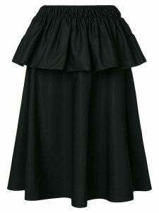 Jil Sander ruffled skirt - Black