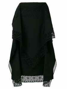 Alberta Ferretti cut out detail skirt - Black