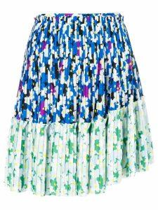 Kenzo Floral Leaf mini skirt - Blue