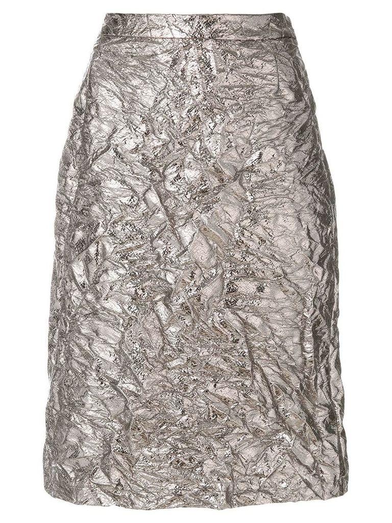 Sies Marjan textured satin skirt - Metallic