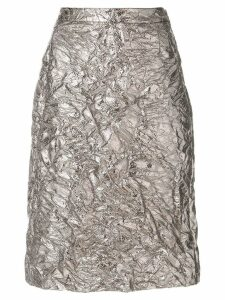 Sies Marjan textured satin skirt - Metallic