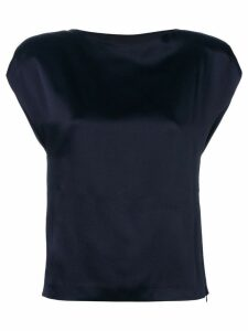 Chalayan sculpted fitted blouse - Blue