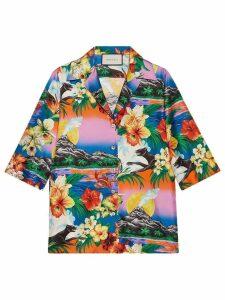 Gucci Hawaiian print silk shirt - Multicolour