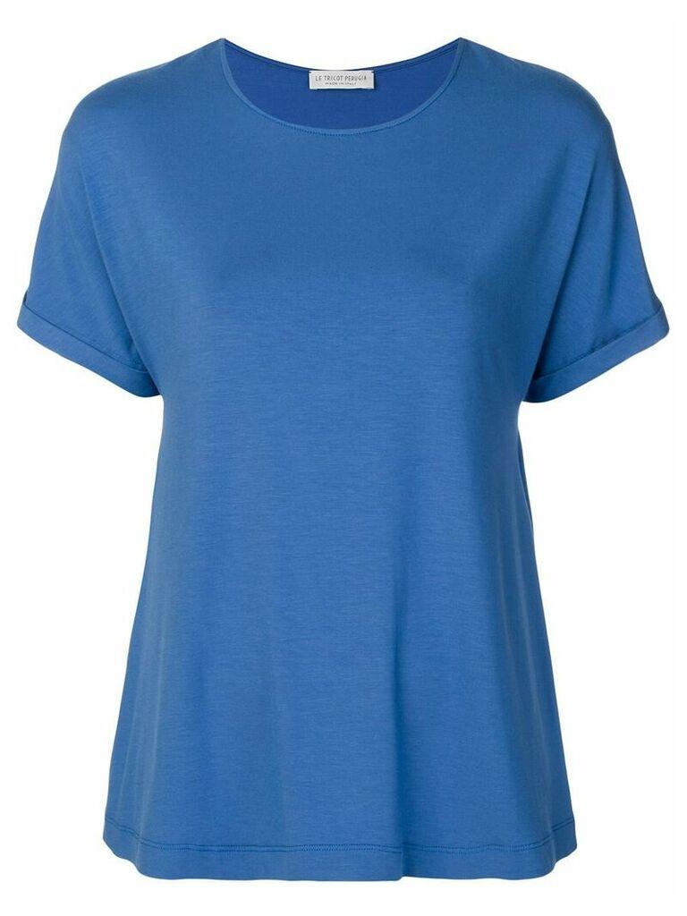 Le Tricot Perugia basic T-shirt - Blue