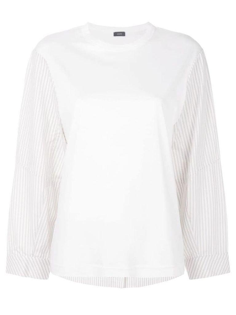 Joseph striped detail long-sleeved T-shirt - White