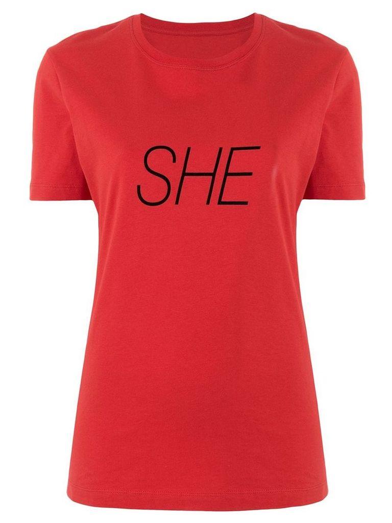 Paco Rabanne She slogan T-shirt - Red