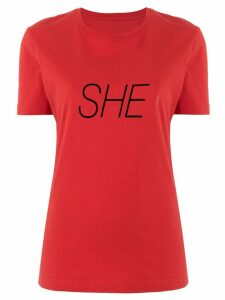 Paco Rabanne She slogan T-shirt - Red