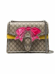 Gucci Brown Dionysus medium shoulder bag with bow - Yellow