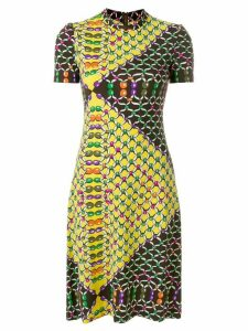LANVIN Pre-Owned link print shortsleeved dress - Multicolour