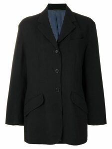 Romeo Gigli Pre-Owned flap pockets boxy blazer - Black