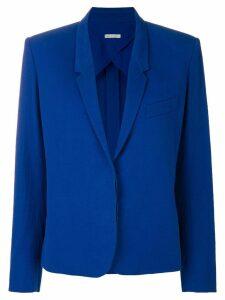 Hermès Pre-Owned concealed fastening blazer - Blue